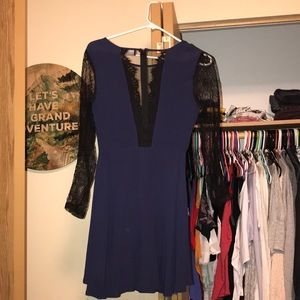 Blue and Lace ASTR Dress